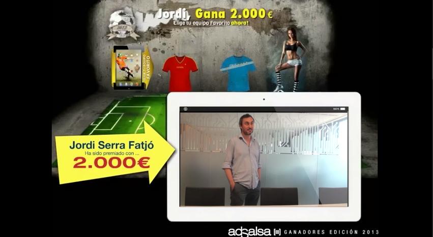 Jordi Serra ganador del premio de 2000 €