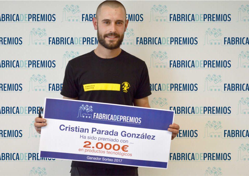 Ganador fábrica de premios 2000 € Cristian Parada